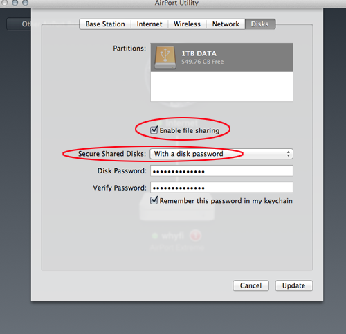 file sharing mac without password